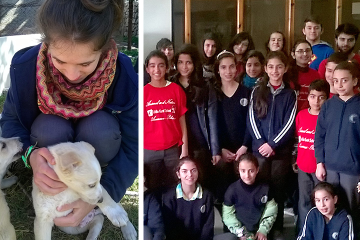 Tierschutzgruppe in Talitha Kumi