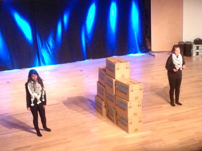 Theatergruppe aus Talitha Kumi auf dem Kirchentag