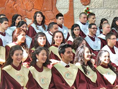 Abiturienten bei der Feier in Talitha Kumi 2013