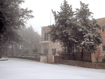 Schnee in Talitha Kumi