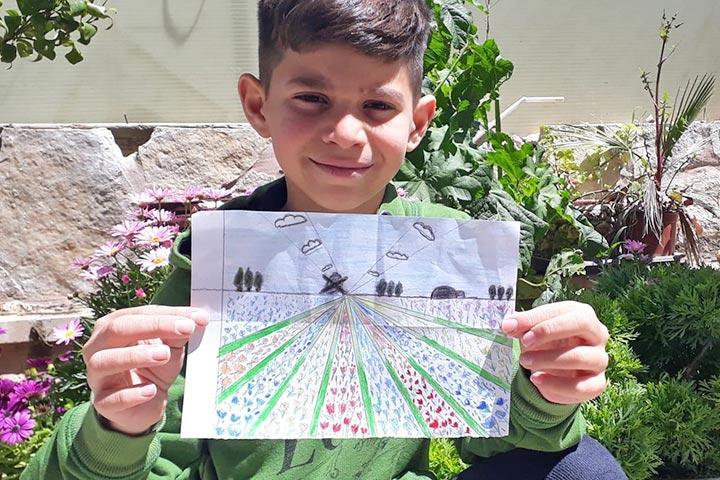 Corona-Virus: E-Learning in Talitha Kumi - Kunstunterricht