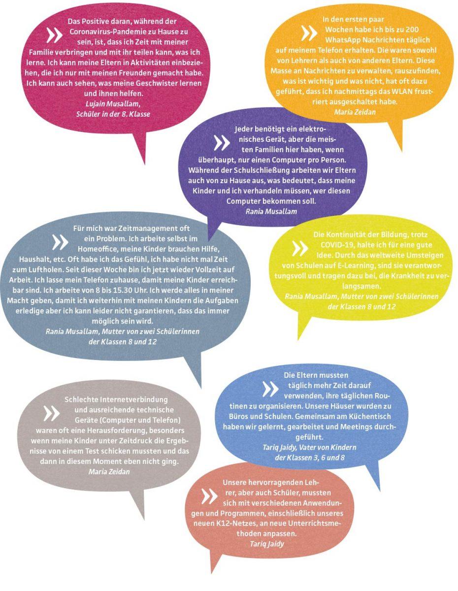 Talitha Kumi: Zitate von Schülern und Eltern zur Corona-Krise-Corona-Zitate